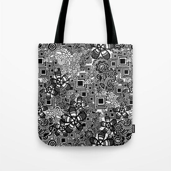flowers in the substrate Tote Bag