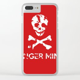 Danger Mines Clear iPhone Case