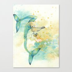 Two-tailed Mermaid Canvas Print