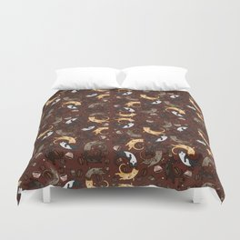 Coffee Cats Duvet Cover
