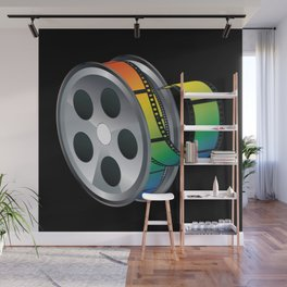 Film reel with colorful tape Wall Mural