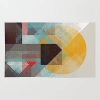 mountains Area & Throw Rugs featuring Over mountains by Efi Tolia
