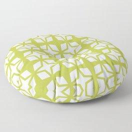 Mid Century Modern Star Pattern Chartreuse 552 Floor Pillow