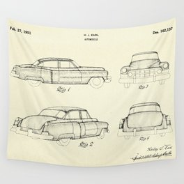 Automobile-1951 Wall Tapestry