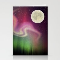 aurora Stationery Cards featuring Aurora by Angelo Cerantola