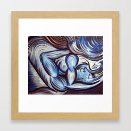 Cool Woman On Top Framed Art Print