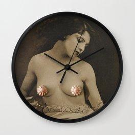 Naughty But Nice(d) - Peachy Keen Wall Clock