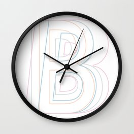 Intertwined Strength and Elegance of the Letter B Wall Clock