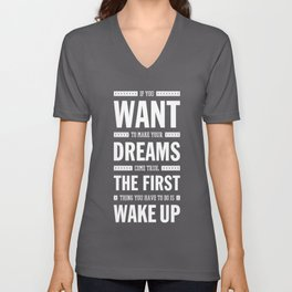 Lab No. 4 If You Want To Make J.M. Power Life Inspirational Quote Unisex V-Neck