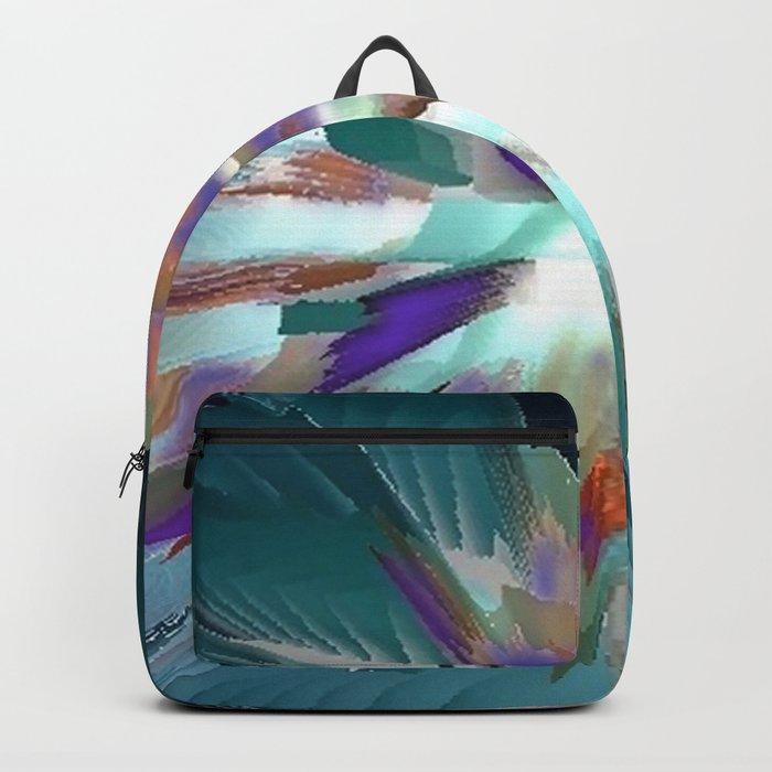 Pow Teal Splash Backpack