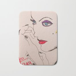 Carole with cigarette Bath Mat