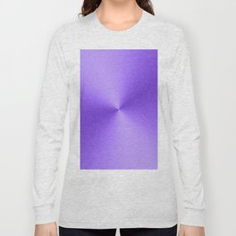 Shiny Purple Faux Stainless Steel Long Sleeve T-shirt
