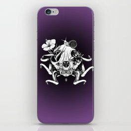 The Skull the Flowers and the Snail iPhone Skin