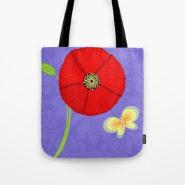 P is for Poppy Tote Bag