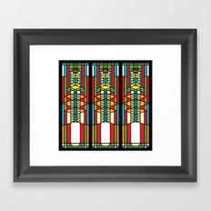 FL Wright Cubic Design Framed Art Print
