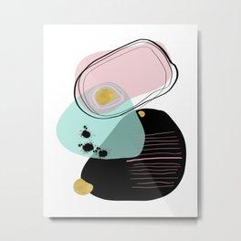 Modern minimal forms 9 Metal Print