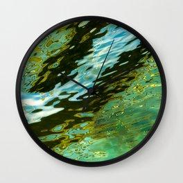 water reflection abstract Wall Clock