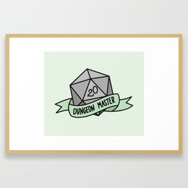 Dungeon Master D20 Framed Art Print
