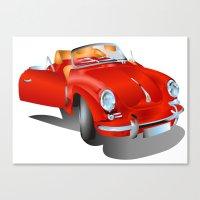 porsche Canvas Prints featuring Porsche by Paola Canti