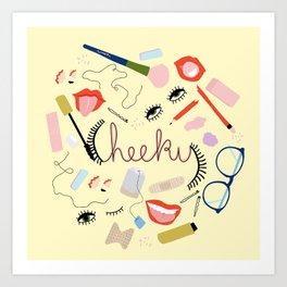 Yellow Cheeky Design Art Print