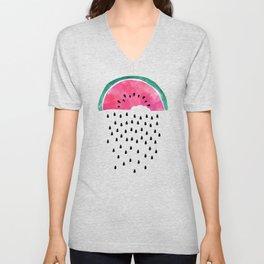Watermelon Rain Unisex V-Neck