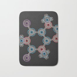 Caffeinated Circuitry Molecule Bath Mat