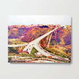 Catanzaro: Morandi bridge Metal Print