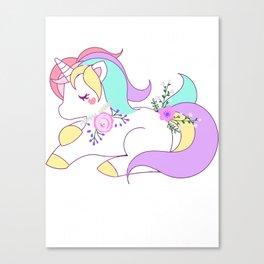 She's Beauty She's Grace She'll Kick You in the Face Cute Unicorn Canvas Print