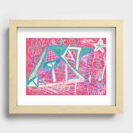 triangulation Recessed Framed Print
