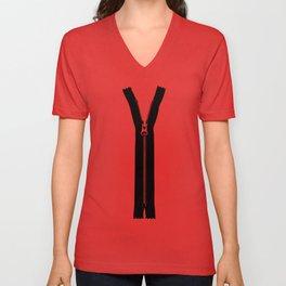 zipper Unisex V-Neck