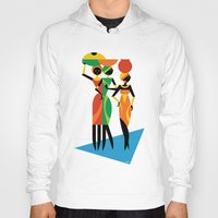 african Hoodies featuring African Women by Szoki