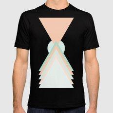 Icosahedron MEDIUM Black Mens Fitted Tee