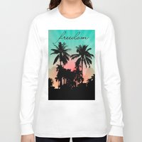 palm trees Long Sleeve T-shirts featuring Palm Trees by mark ashkenazi