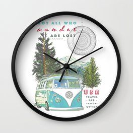 """""""Not all who wander, are lost"""" poster print Wall Clock"""