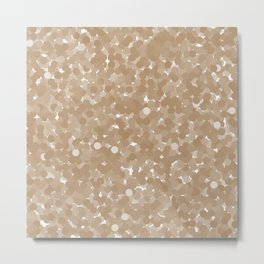 Iced Coffee Polka Dot Bubbles Metal Print