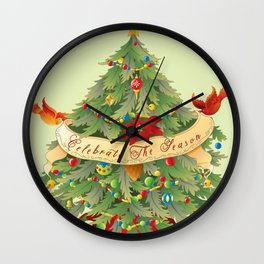 Celebrate The Season Wall Clock
