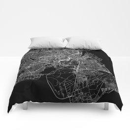 Copenhagen Black Map Comforters