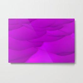 Purple wavy surface Metal Print