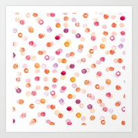 polka Art Prints featuring Polka by Eleanor Amelia
