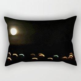 the moon plays with lights Rectangular Pillow