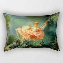 "Jean-Honoré Fragonard ""The Swing (L'Escarpolette)(The Happy Accidents of the Swing"") Rectangular Pillow"