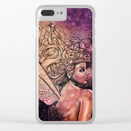 Dragonfly Fairy Clear iPhone Case