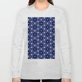 Shibori Stars (white and dark blue) Long Sleeve T-shirt