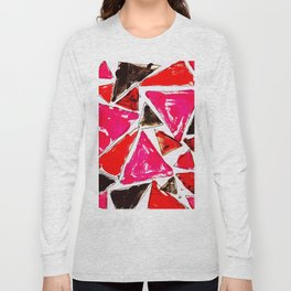 Red Pink Triangle Long Sleeve T-shirt