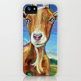Lillie the FARM GOAT Painting iPhone Case