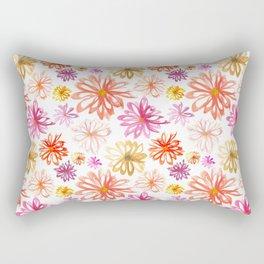 Painted Floral I Rectangular Pillow