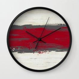 Racing Stripe Wall Clock