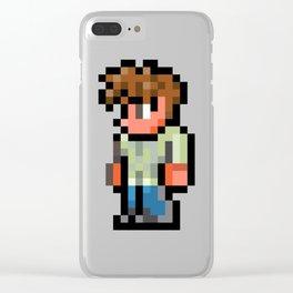 Terraria The Guide 8 Bit Clear iPhone Case