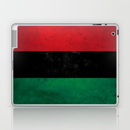 Distressed Afro-American / Pan-African / UNIA flag Laptop & iPad Skin