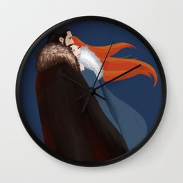 Facing the Night Together Wall Clock